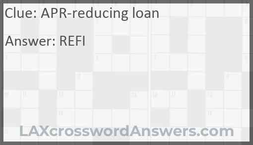 APR-reducing loan Answer