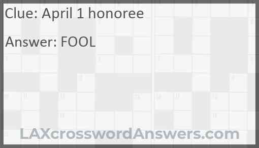 April 1 honoree Answer