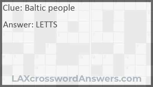 Baltic people Answer