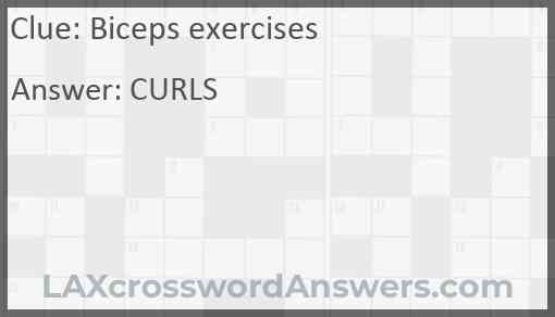 Biceps exercises Answer