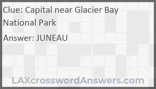 Capital near Glacier Bay National Park Answer