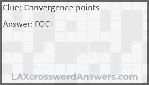 Convergence points Answer