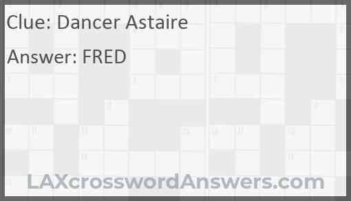Dancer Astaire Answer