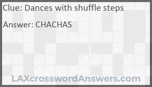 Dances with shuffle steps Answer