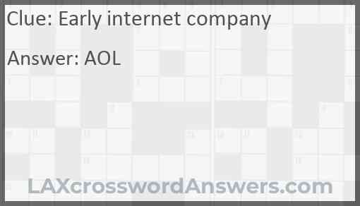 Early internet company Answer