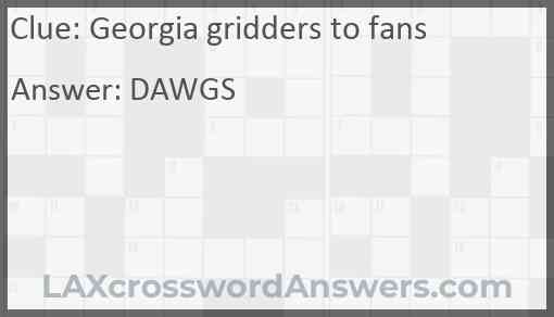 Georgia gridders to fans Answer