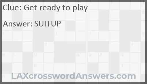 Get ready to play Answer