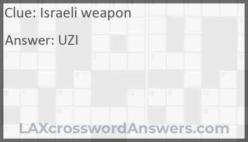 Israeli weapon Answer