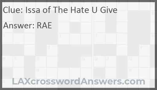 Issa of The Hate U Give Answer