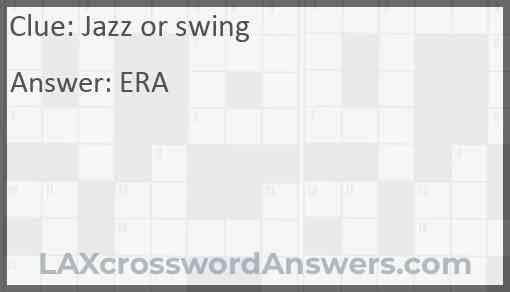 Jazz or swing Answer