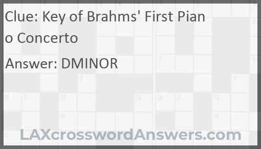 Key of Brahms' First Piano Concerto Answer