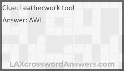 Leatherwork tool Answer