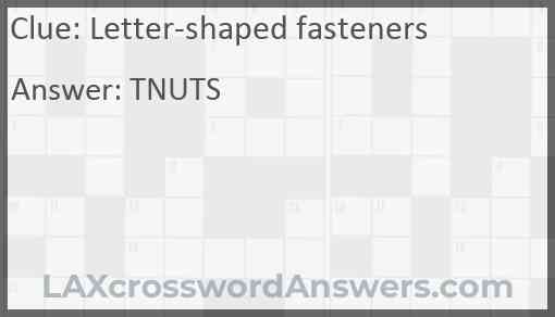 Letter-shaped fasteners Answer