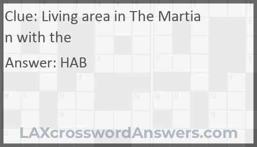 Living area in The Martian with the Answer