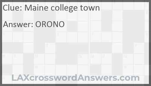 Maine college town Answer