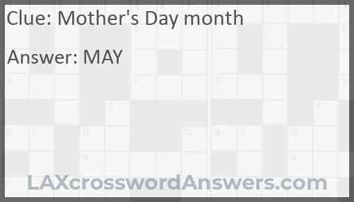 Mother's Day month Answer