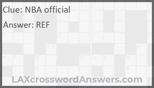 NBA official Answer