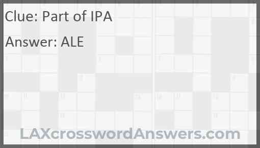 Part of IPA Answer