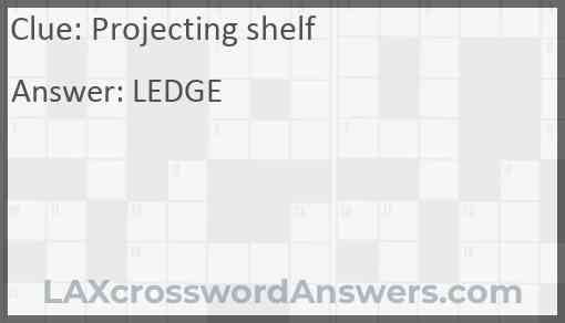 Projecting shelf Answer