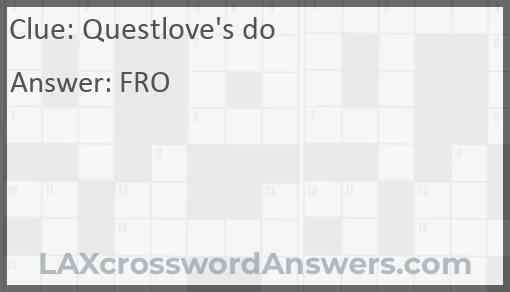 Questlove's do Answer