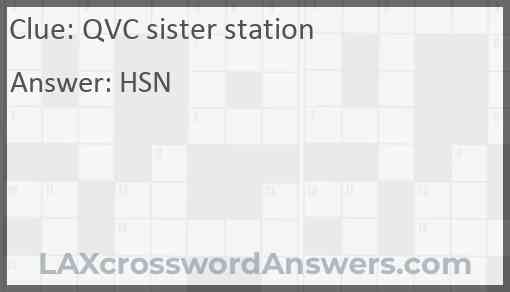 QVC sister station Answer