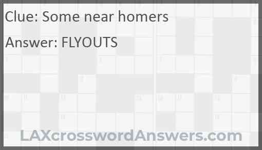 Some near homers Answer