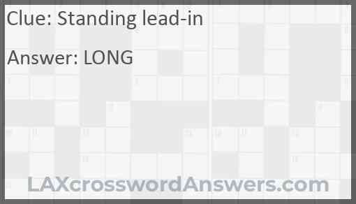 Standing lead-in Answer