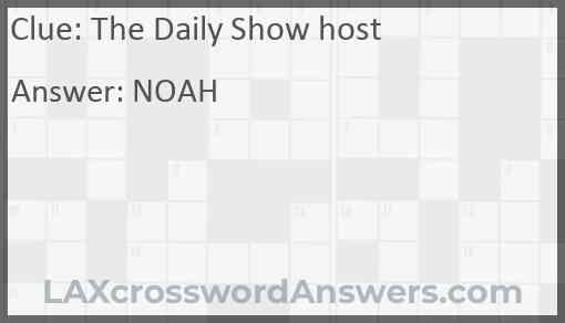 The Daily Show host Answer