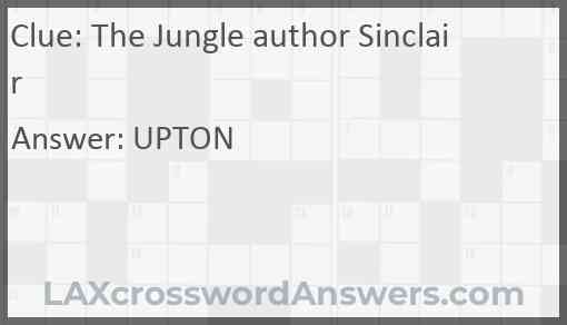 The Jungle author Sinclair Answer