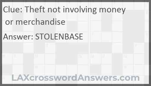Theft not involving money or merchandise Answer