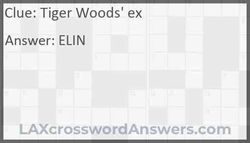 Tiger Woods' ex Answer