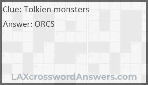 Tolkien monsters Answer