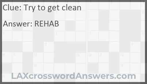 Try to get clean Answer