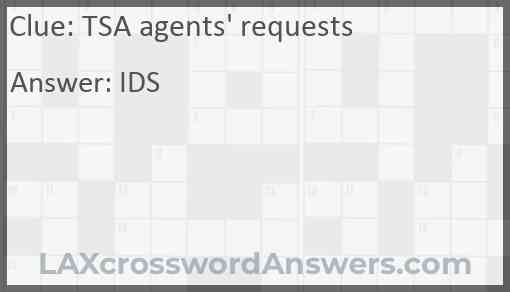 TSA agents' requests Answer