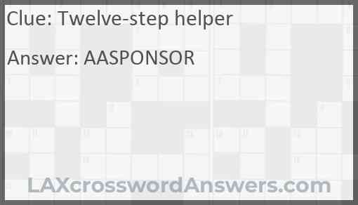 Twelve-step helper Answer
