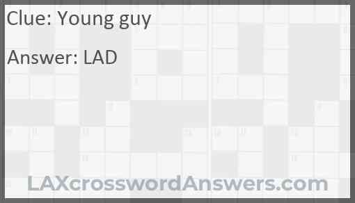 Young guy Answer
