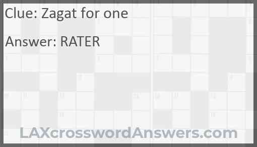 Zagat for one Answer