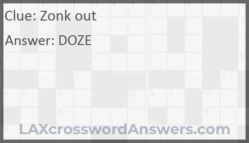 Zonk out Answer
