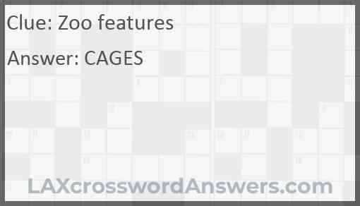 Zoo features Answer